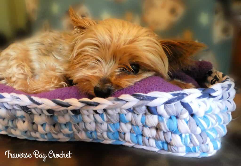 crochet dog bed free pattern