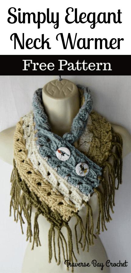 crochet fringe neck warmer free pattern