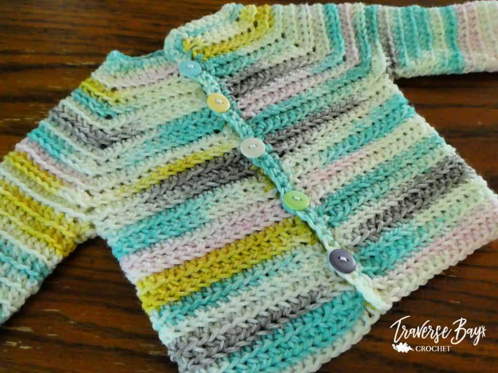 baby crochet cardigan free pattern