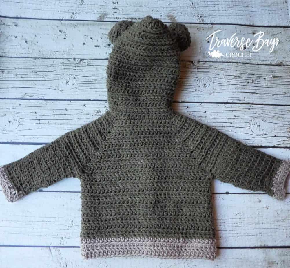 crochet baby bear cardigan