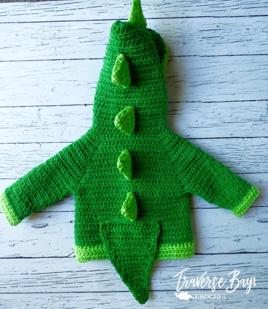 crochet dinosaur baby cardigan free pattern