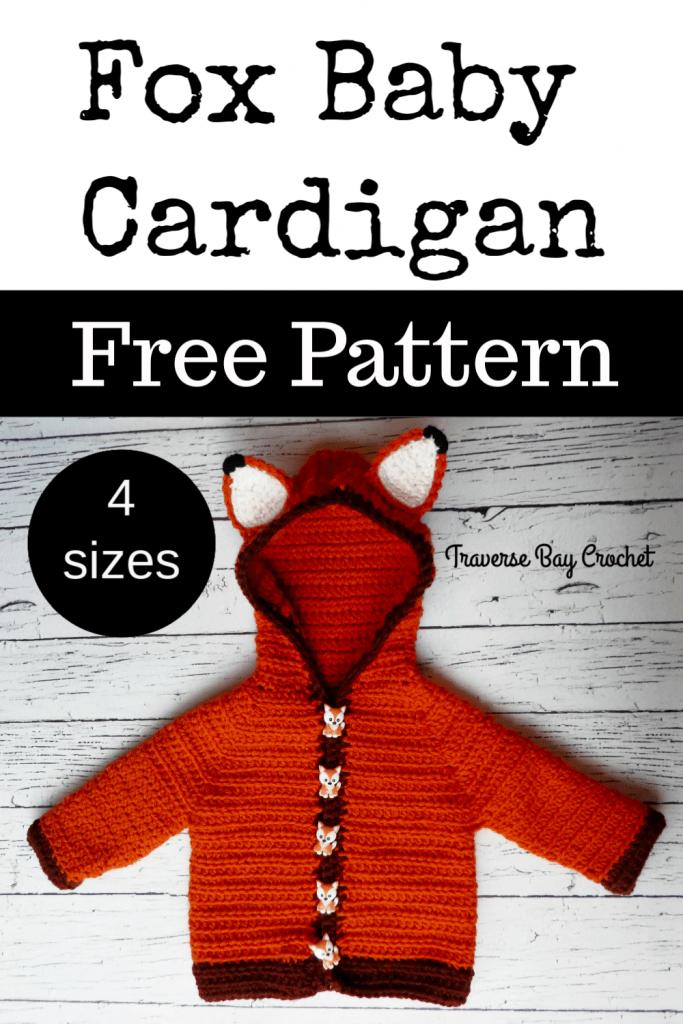 crochet fox cardigan free pattern