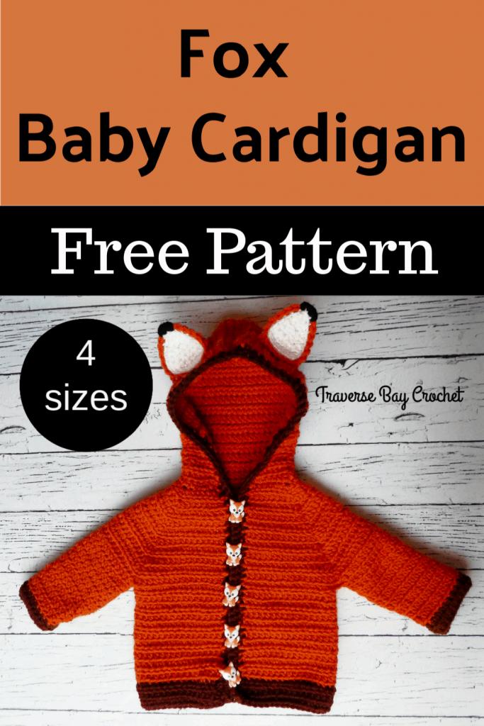 crochet fox sweater free pattern