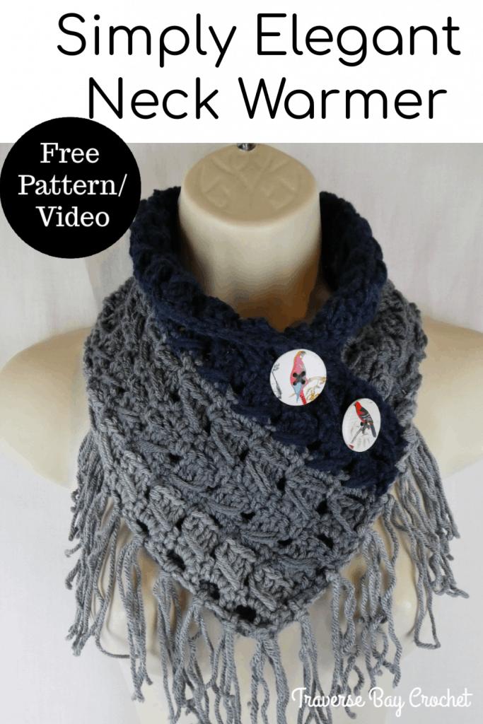 crochet neck warmer free pattern