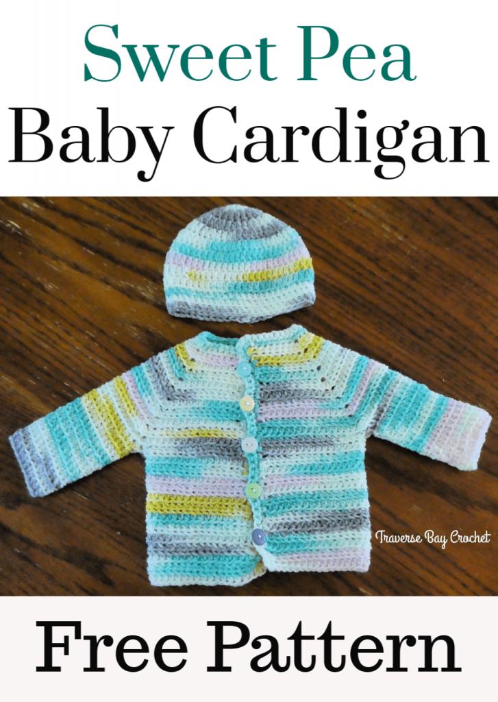crochet baby cardigan free pattern