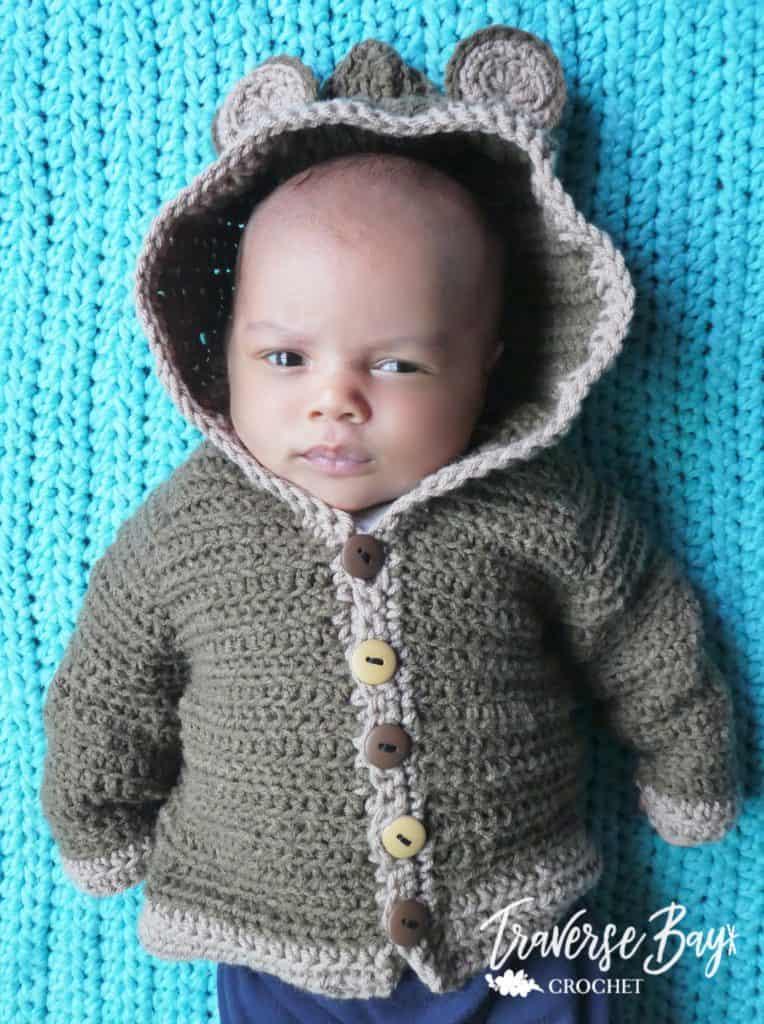 crochet bear cardigan free pattern
