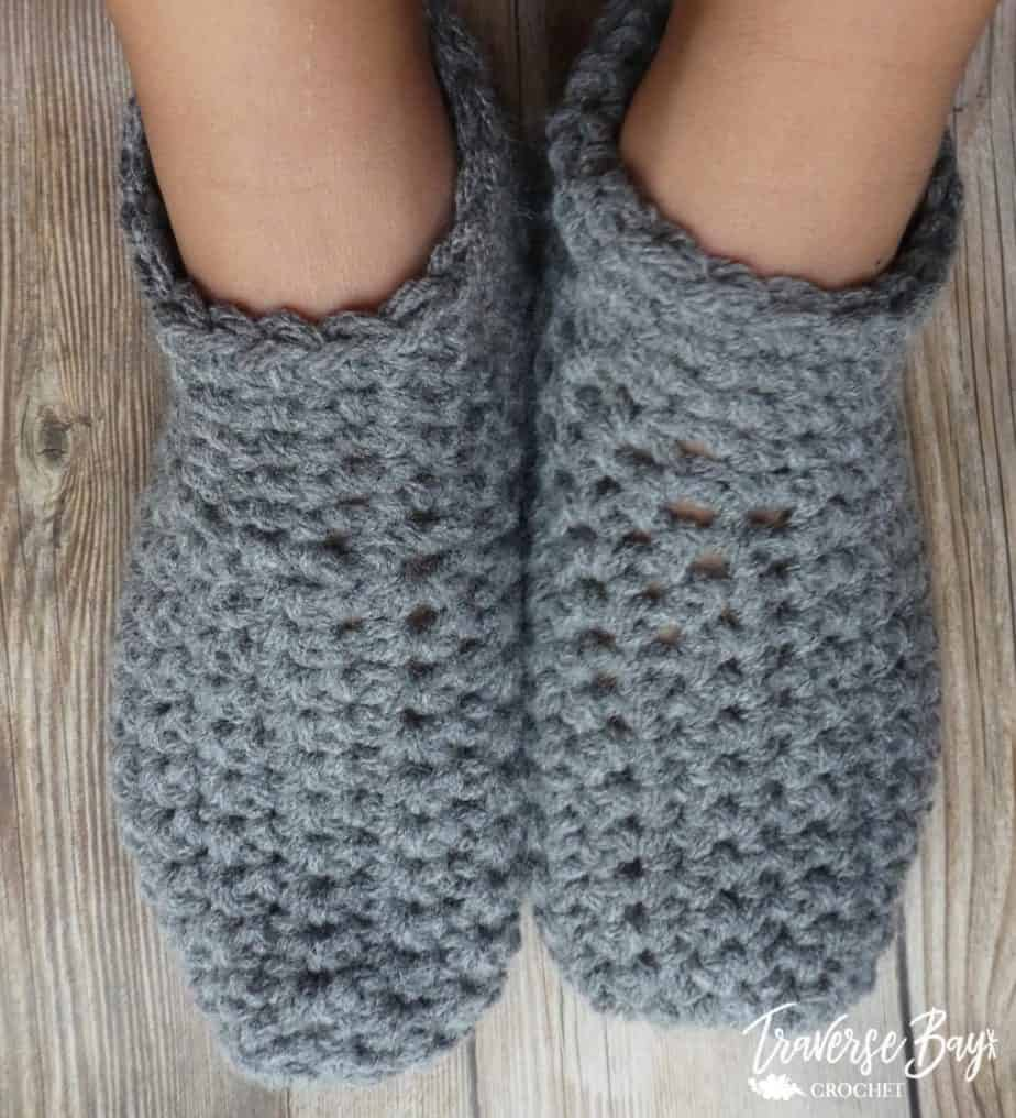 easy child crochet slippers free pattern
