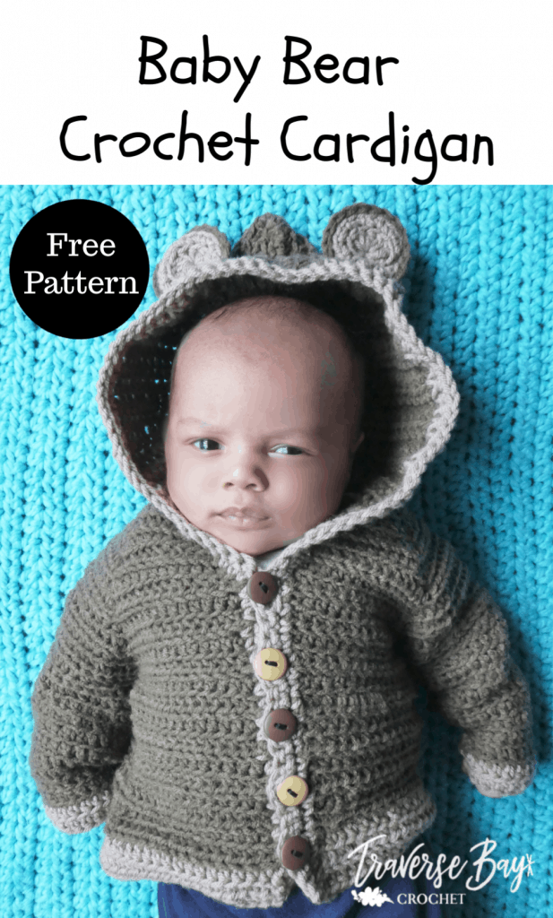 crochet baby bear cardigan free pattern
