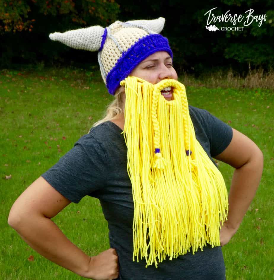 crochet viking beard free pattern