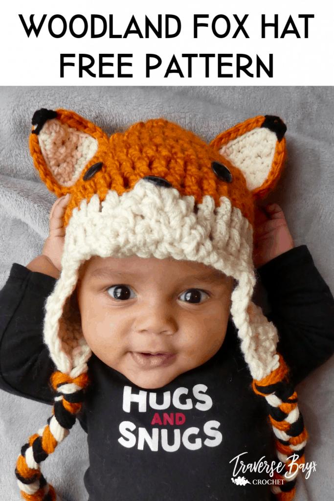 crochet fox hat free pattern