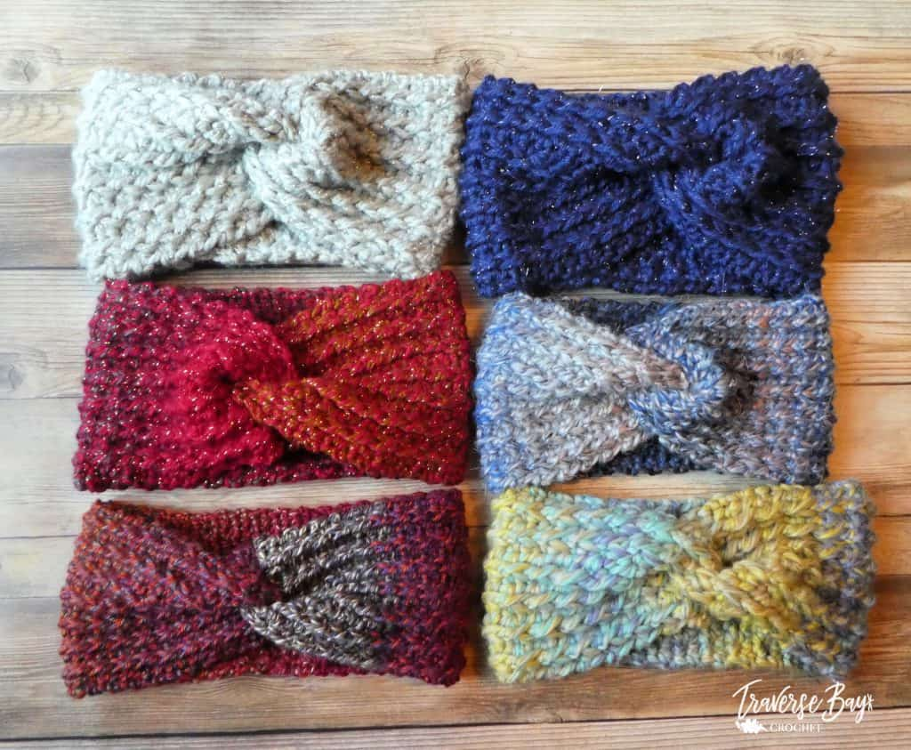 crochet twist headband pattern