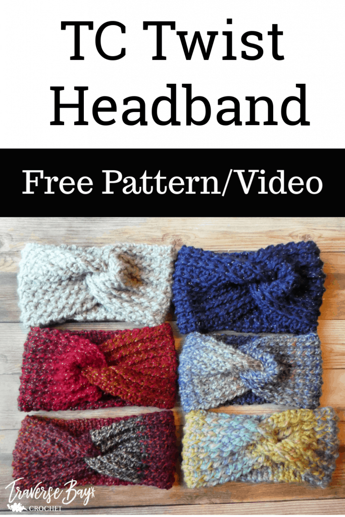 crochet twist headband free pattern