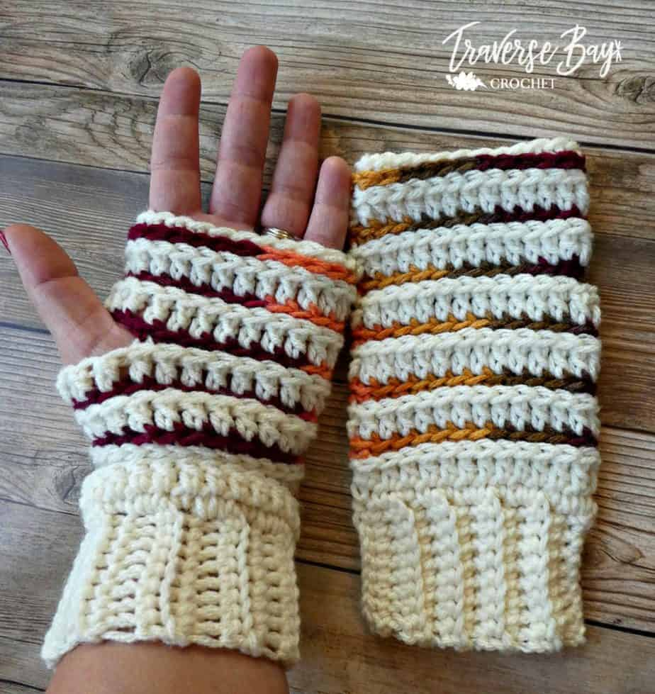 crochet fingerless mittens free pattern