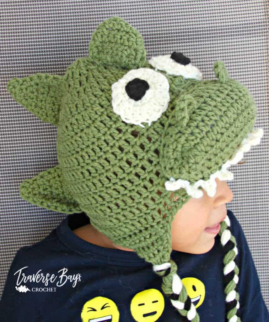 crochet dinosaur hat free pattern