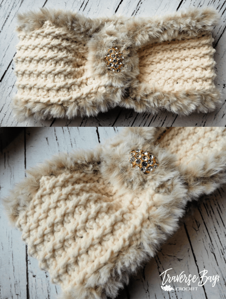 crochet fur headband free pattern