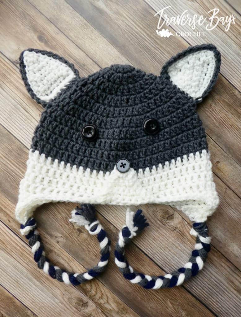 crochet wolf hat free pattern