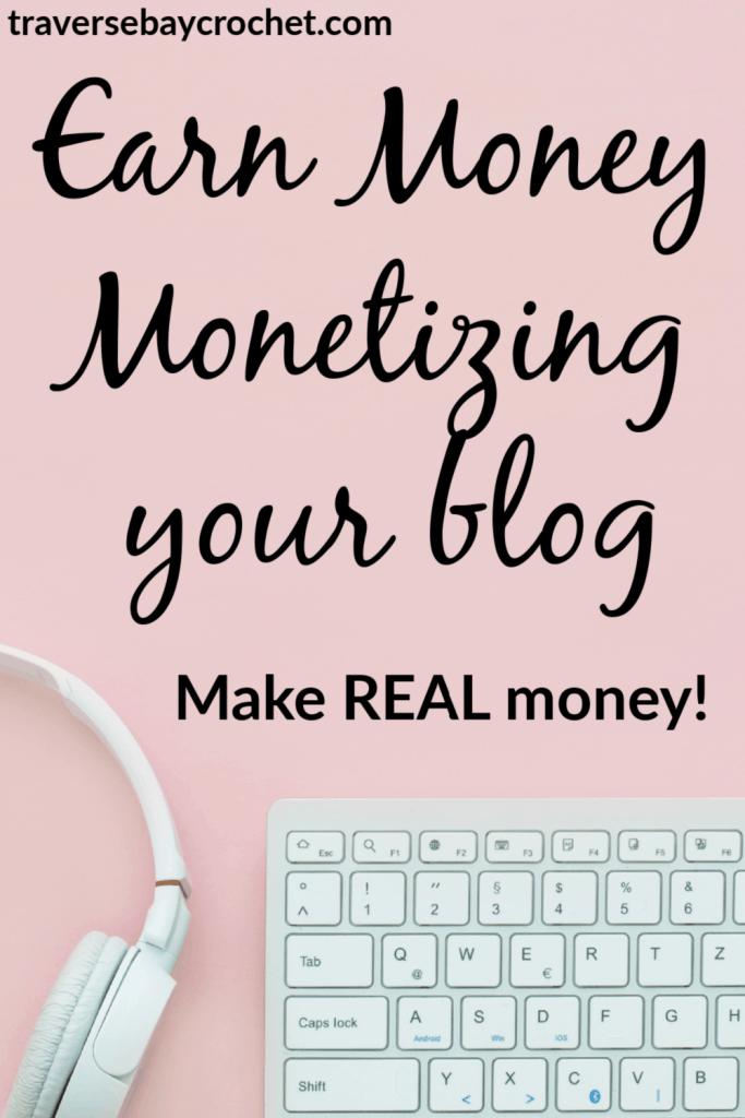 how to make money crochet blogging