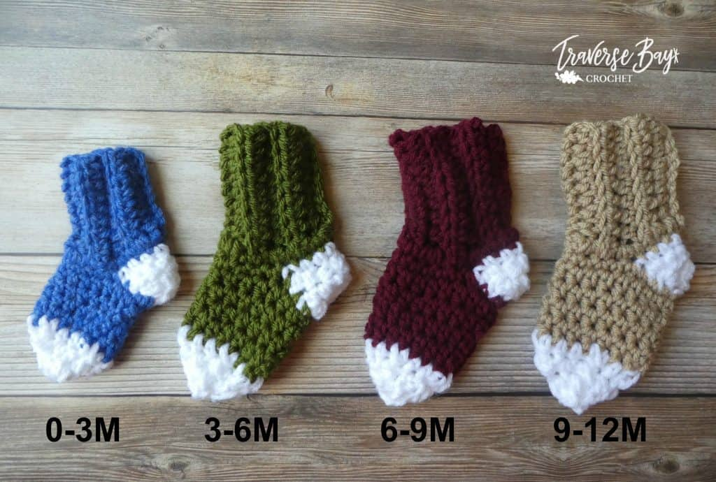 easy crochet socks free pattern