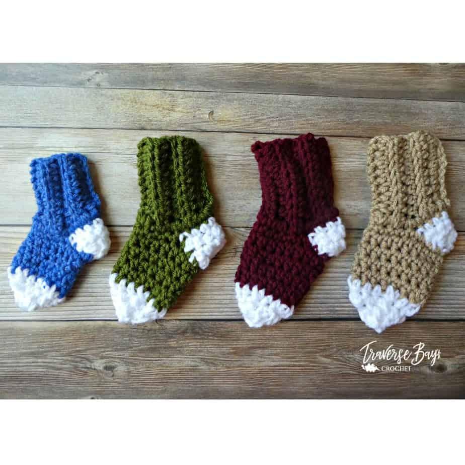 Easy Crochet Baby Socks