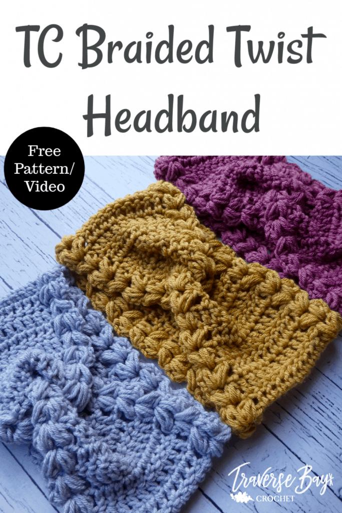 crochet braided twist headband