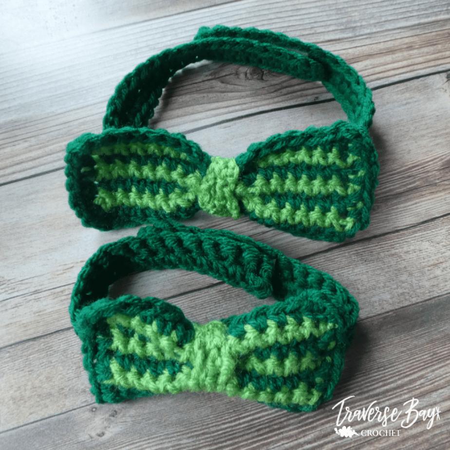 crochet bow tie free pattern