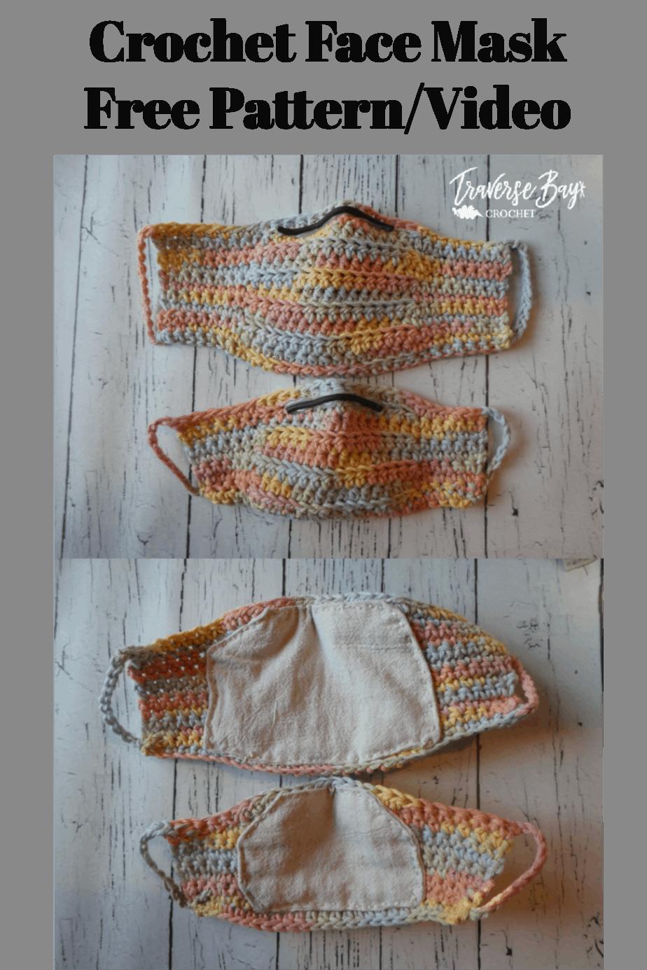 crochet face mask free pattern