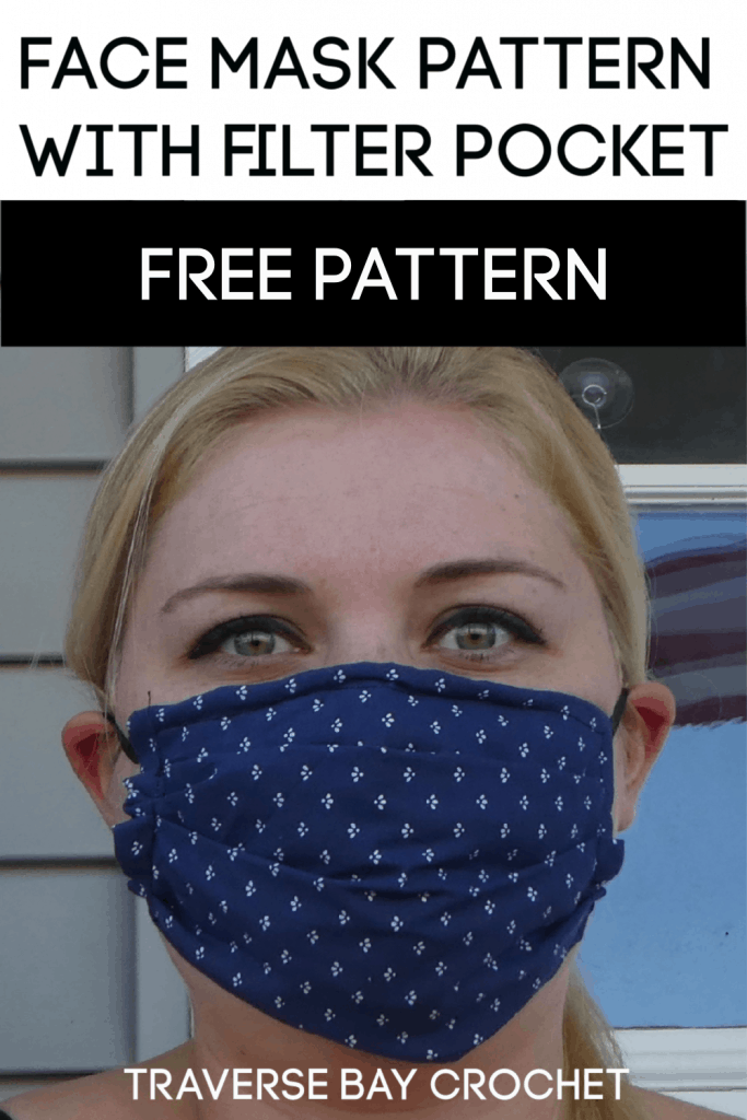 face mask with pocket pattern