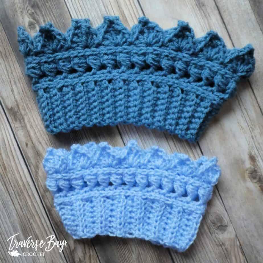 crochet crown headband free pattern