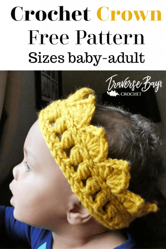crochet crown free pattern