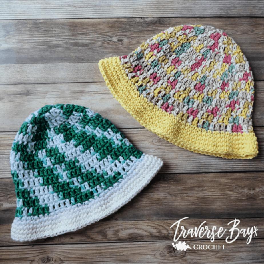 simple crochet sun hat free pattern