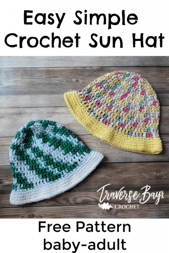 easy crochet sun hat free pattern