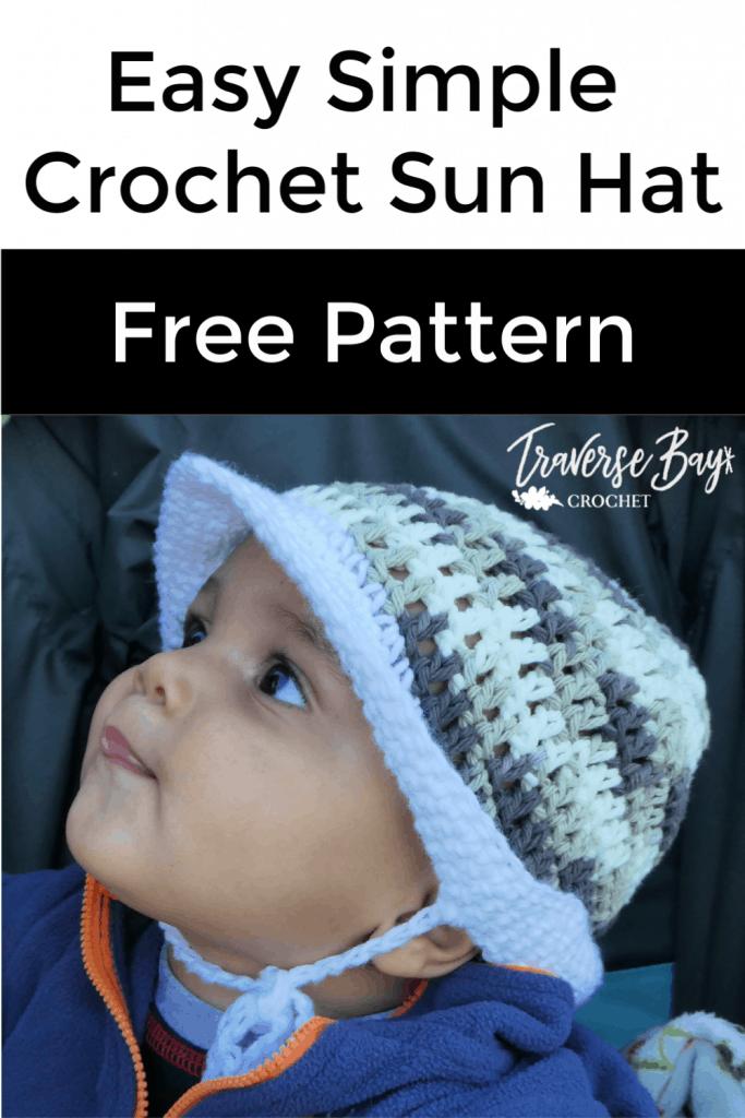 crochet baby sun hat free pattern