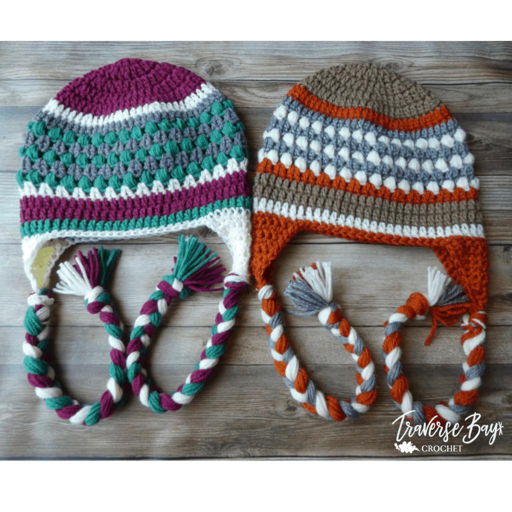 crochet earflap beanie free pattern