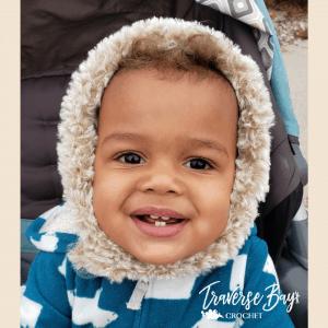 crochet fur baby bonnet free pattern