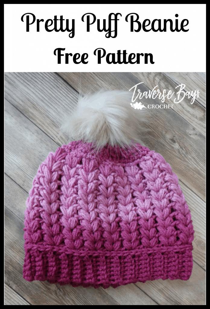 crochet pom beanie free pattern