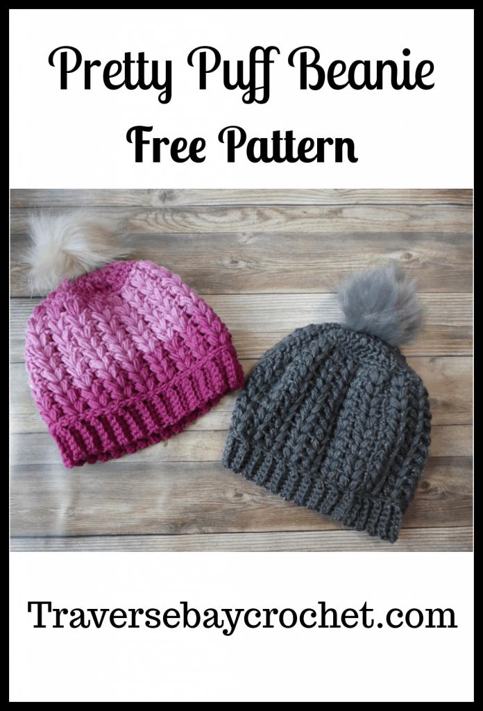 crochet puff hat free pattern
