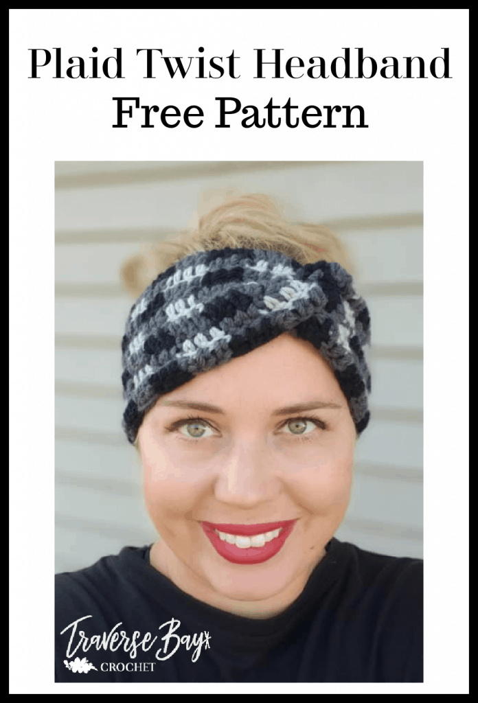crochet plaid headband free pattern