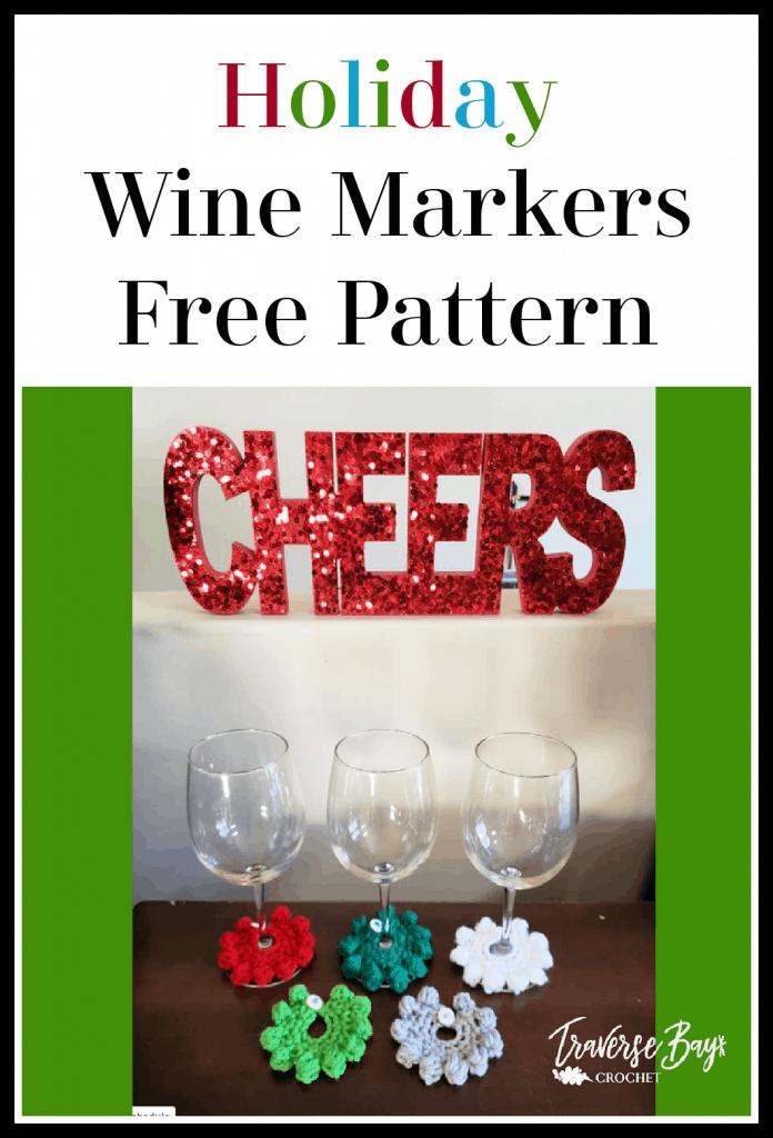 crochet wine markers free pattern