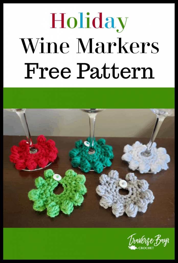 crochet wine markers pattern