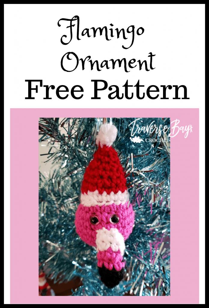 crochet flamingo ornament free pattern