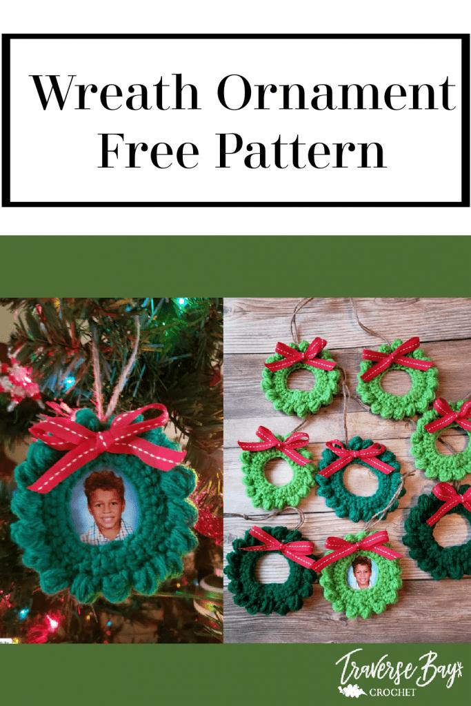 crochet picture ornament