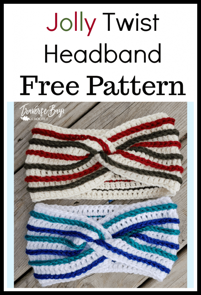 crochet stripe headband free pattern