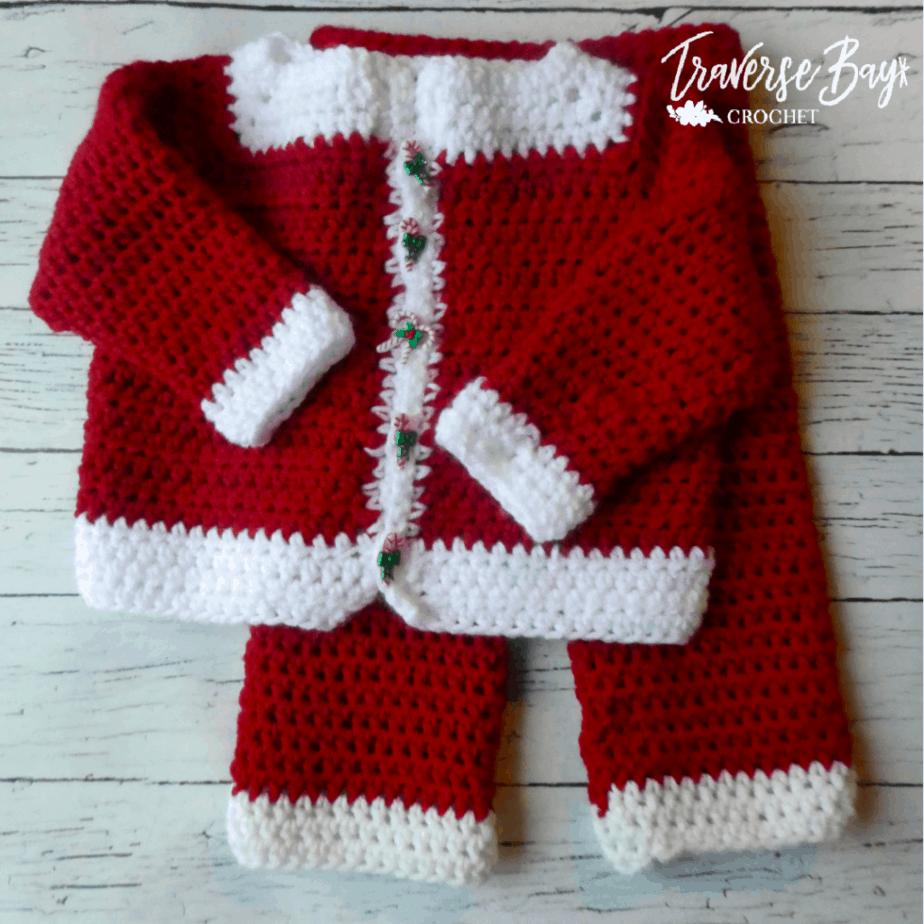 crochet santa outfit free pattern
