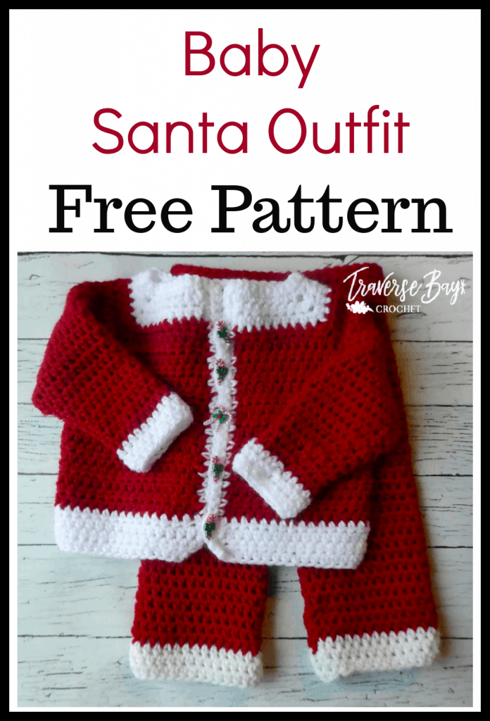 crochet baby santa outfit free pattern