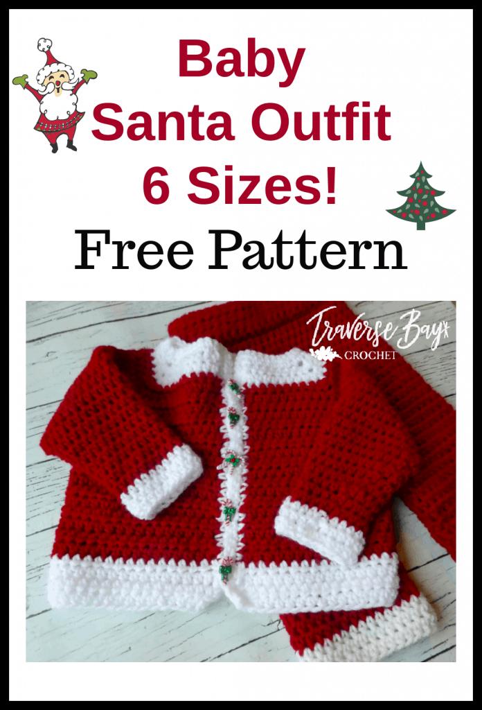 crochet Santa baby sweater free pattern