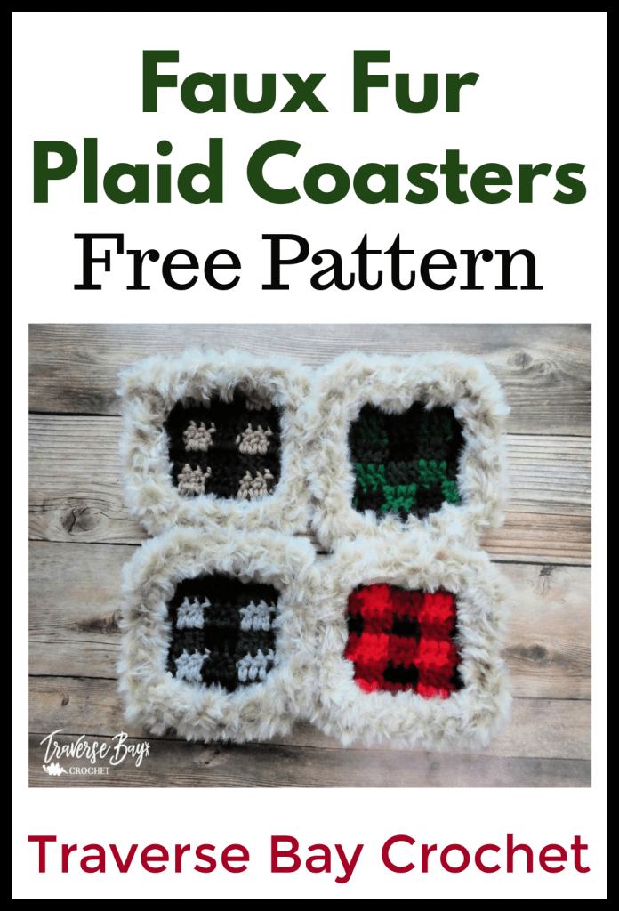 crochet plaid costers