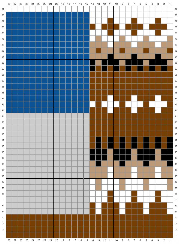 Crochet Bernie Mittens Chart