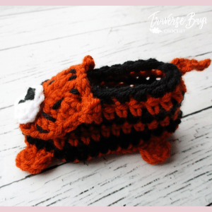 crochet tiger baby booties