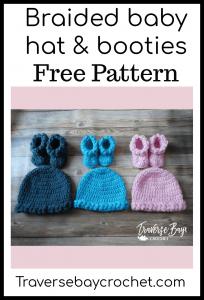 crochet baby hat and booties