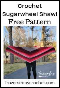 crochet sugarwheel shawl
